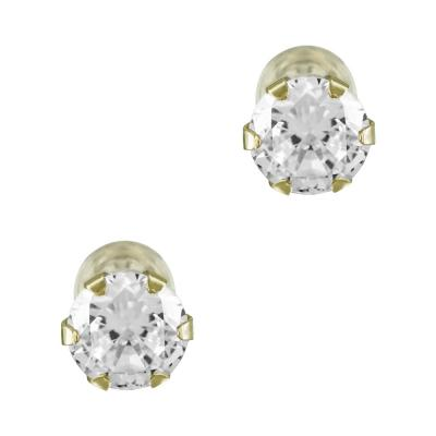 Σκουλαρίκια Από Κίτρινο Χρυσό Με Πέτρες Κ14 SK820