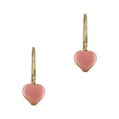 Παιδικά Σκουλαρίκια Καρδιά Από Κίτρινο Χρυσό Κ9 PSK386