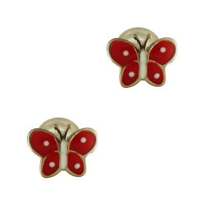 Παιδικά Σκουλαρίκια Πεταλούδα Από Κίτρινο Χρυσό Κ9 PSK384