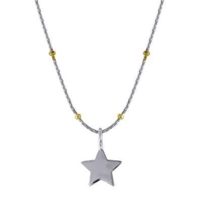 Μενταγιόν Με Αστεράκι Από Ασήμι M441