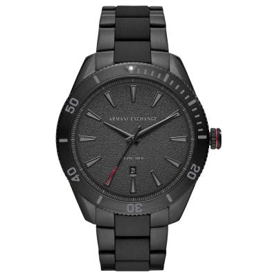 ARMANI EXCHANGE Black Stainless Steel Bracelet AX1826