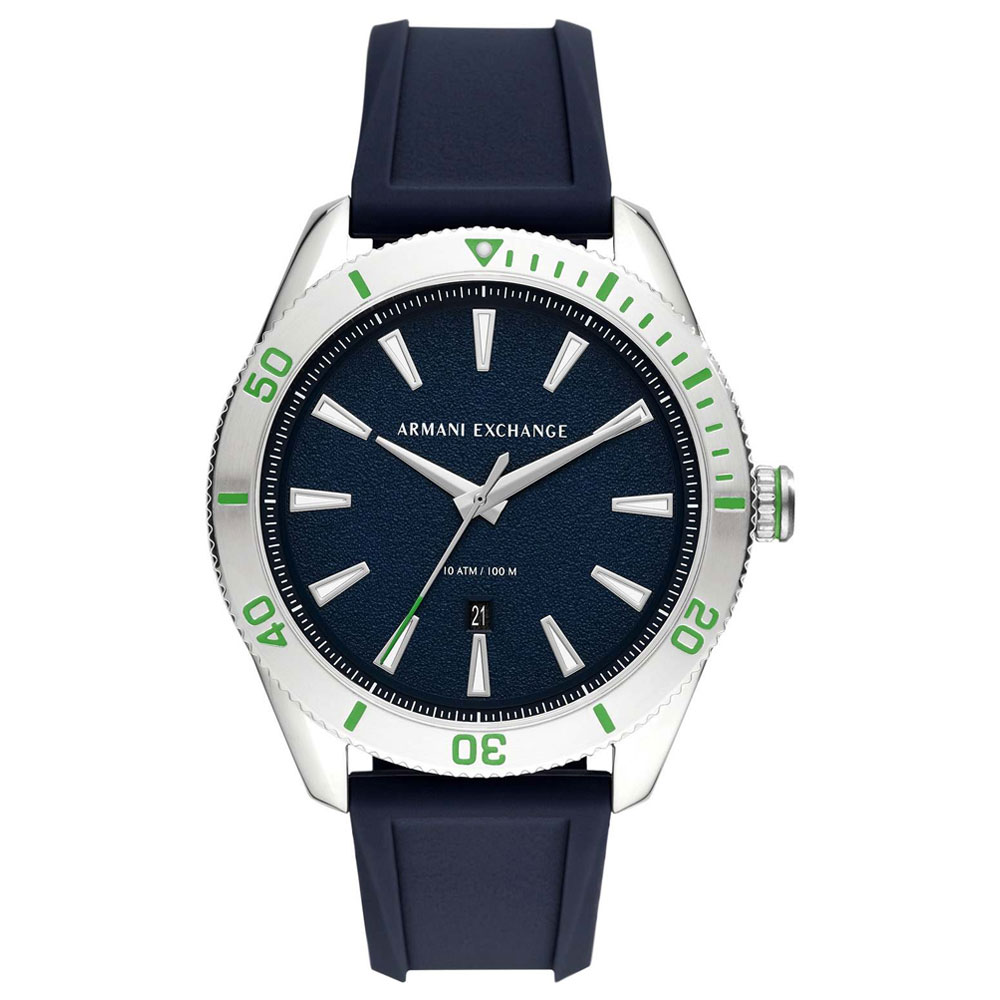 ARMANI EXCHANGE Blue Silicone Strap AX1827