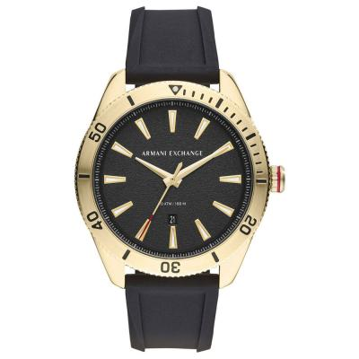ARMANI EXCHANGE Black Silicone Strap AX1828