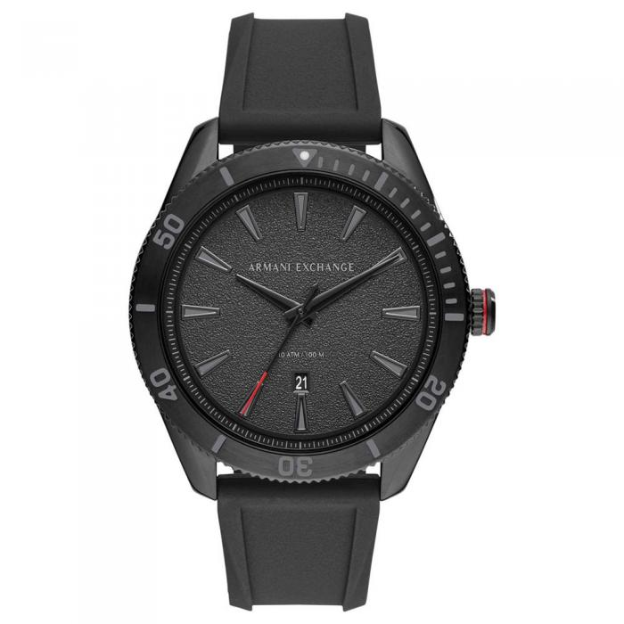 ARMANI EXCHANGE Black Silicone Strap AX1829