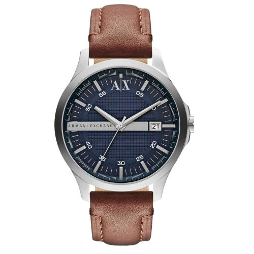ARMANI EXCHANGE Hampton Brown Leather Strap AX2133