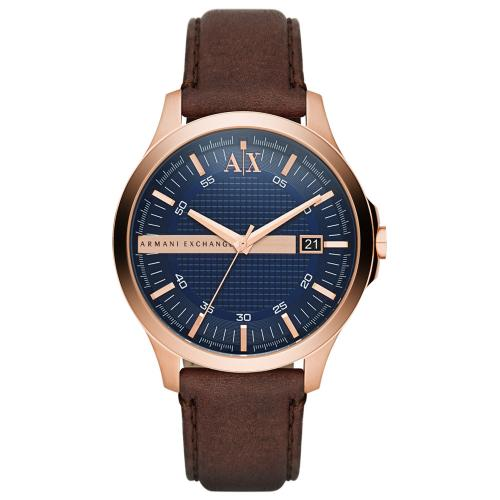 ARMANI EXCHANGE Hampton Brown Leather Strap AX2172