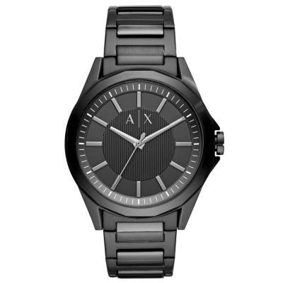 ARMANI EXCHANGE Drexler Black Stainless Steel Bracelet AX2620