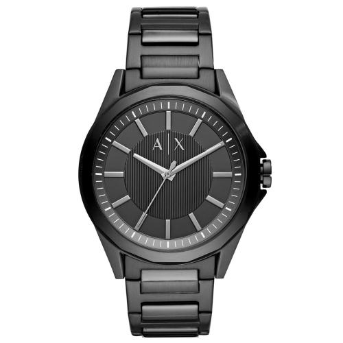 ARMANI EXCHANGE Drexler Black Stainless Steel Bracelet AX2620