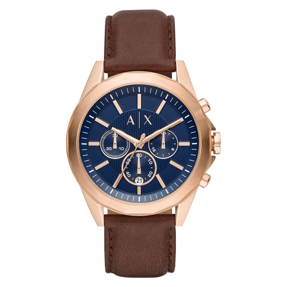 ARMANI EXCHANGE Chronograph Brown Leather Strap AX2626