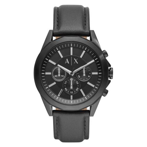 ARMANI EXCHANGE Chronograph Black Leather Strap AX2627
