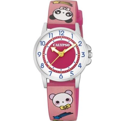 CALYPSO Kids Pink Rubber Strap K5775-3