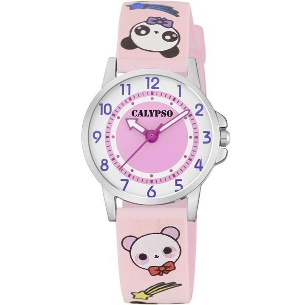 CALYPSO Kids Pink Rubber Strap K5775-4