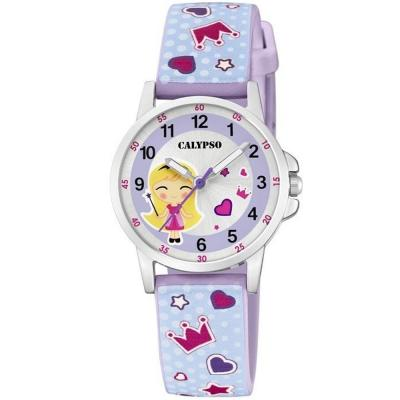 CALYPSO Kids Purple Rubber Strap K5776-3