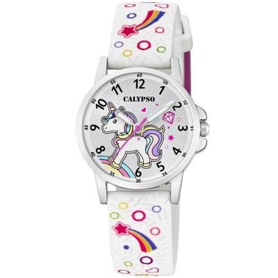 CALYPSO Kids White Rubber Strap K5776/4