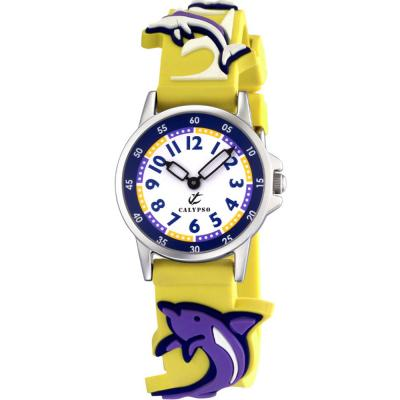 CALYPSO Kids Yellow Rubber Strap 5234-1
