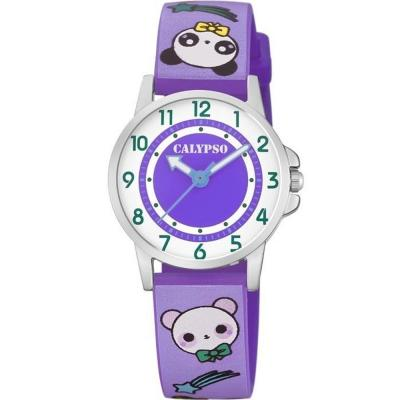 CALYPSO Kids Purple Rubber Strap K5775-2