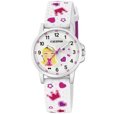 CALYPSO Kids White Rubber Strap K5776/1