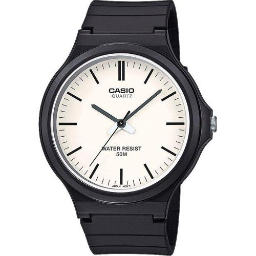 CASIO Collection Black Rubber Strap MW-240-7EVEF