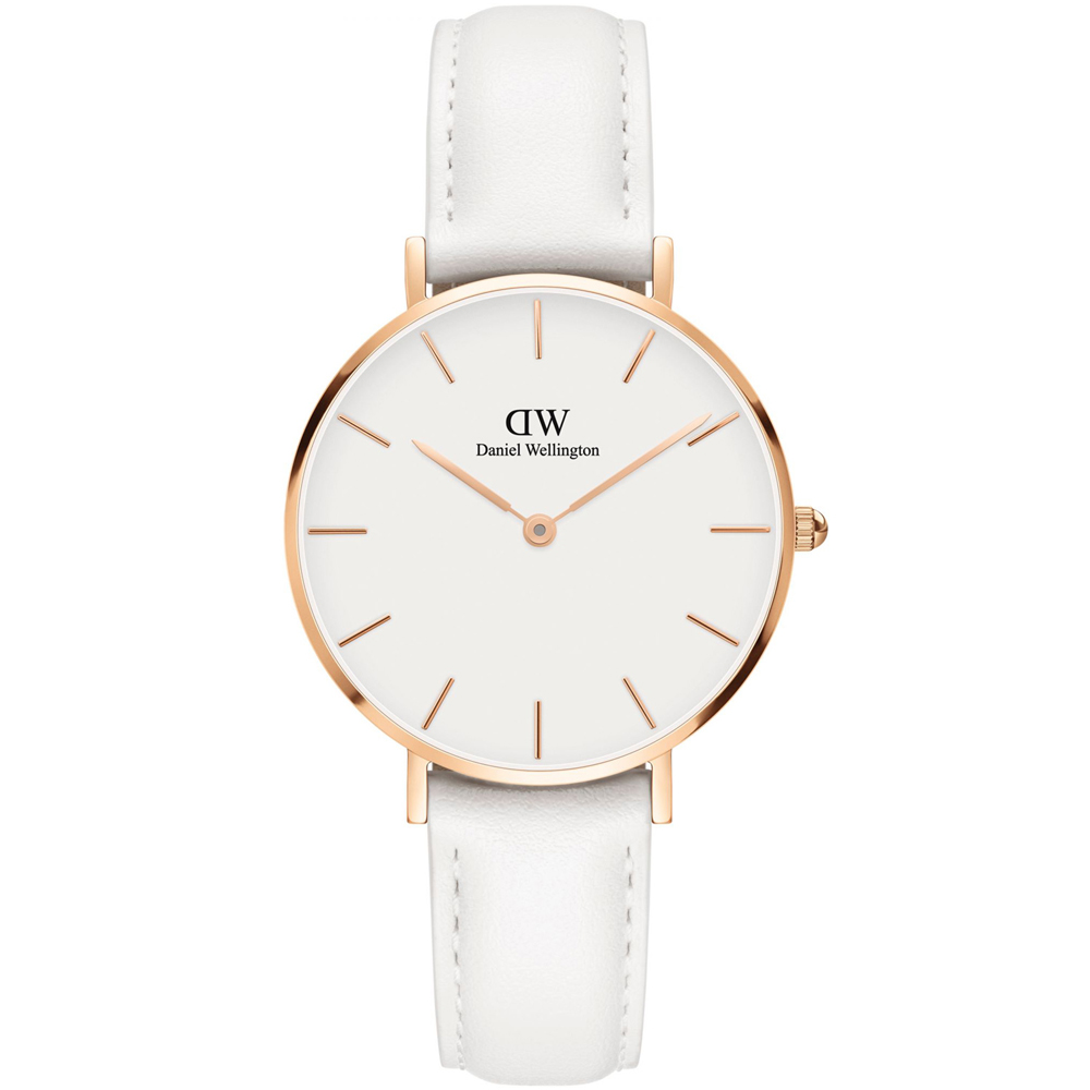 DANIEL WELLINGTON Petite Bondi White Leather Strap DW00100189