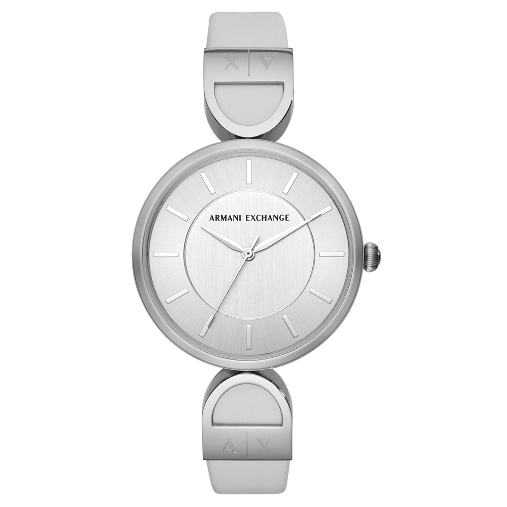 ARMANI EXCHANGE Brooke White Leather Strap AX5325