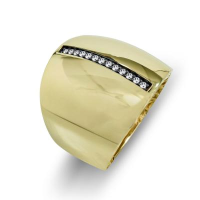 Δαχτυλίδι Φαρδύ Από Κίτρινο Χρυσό Κ14 DX712