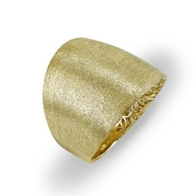 Δαχτυλίδι Φαρδύ Από Κίτρινο Χρυσό Κ14 DX715