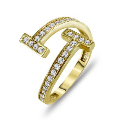 Δαχτυλίδι Mε Πέτρες Από Κίτρινο Χρυσό K14 DX00800