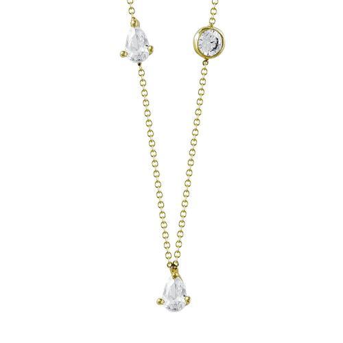 Κολιέ Με Πέτρες Από Κίτρινο Χρυσό Κ9 KL92299