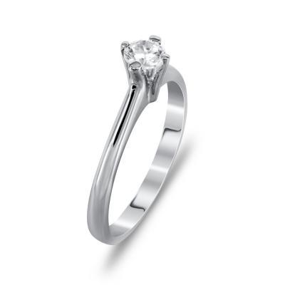 Μονόπετρο Δαχτυλίδι Από Λευκόχρυσο Κ14 DX725