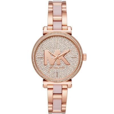 MICHAEL KORS Sofie Crystals Rose Gold Stainless Steel Bracelet MK4336