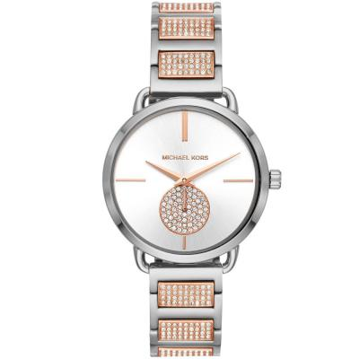 MICHAEL KORS Portia Crystals Two Tone Stainless Steel Bracelet MK4352