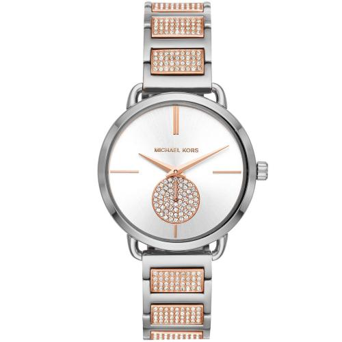MICHAEL KORS Portia Crystals Two Tone Stainless Steel Bracelet MK4352