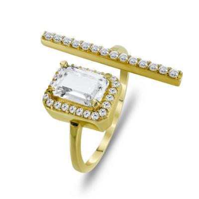 Δαχτυλίδι Από Κίτρινο Χρυσό K14 DX716