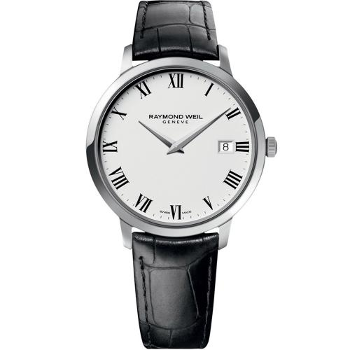 RAYMOND WEIL Geneve Toccata Black Leather Strap 5588-STC-00300