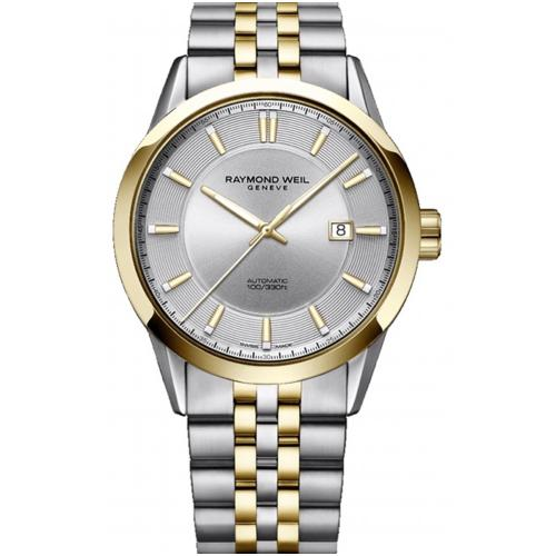 RAYMOND WEIL Freelancer Automatic Two Tone Stainless Steel Bracelet 2731-STP-65001