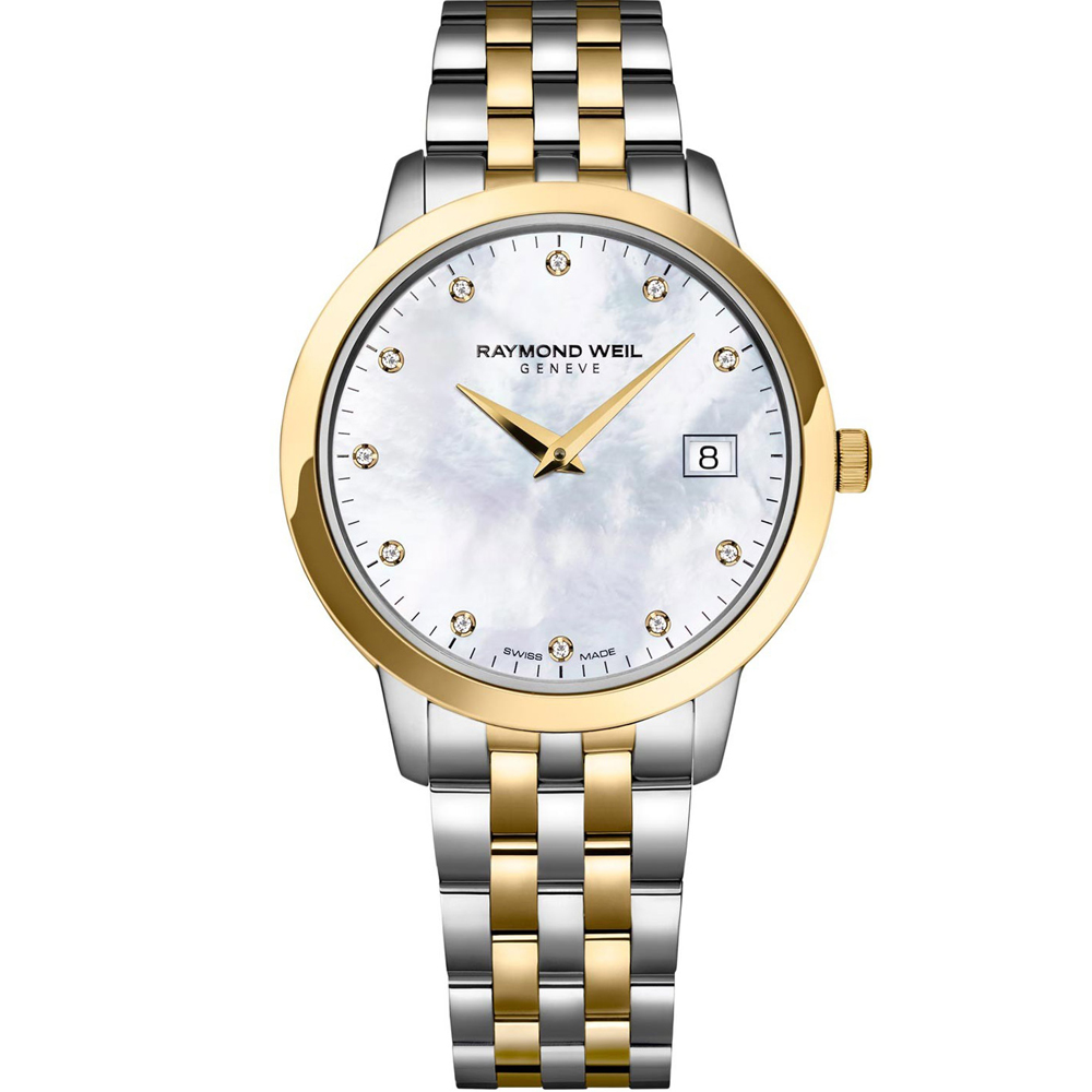 RAYMOND WEIL Toccata Diamonds Two Tone Stainless Steel Bracelet 5388-STP-97081