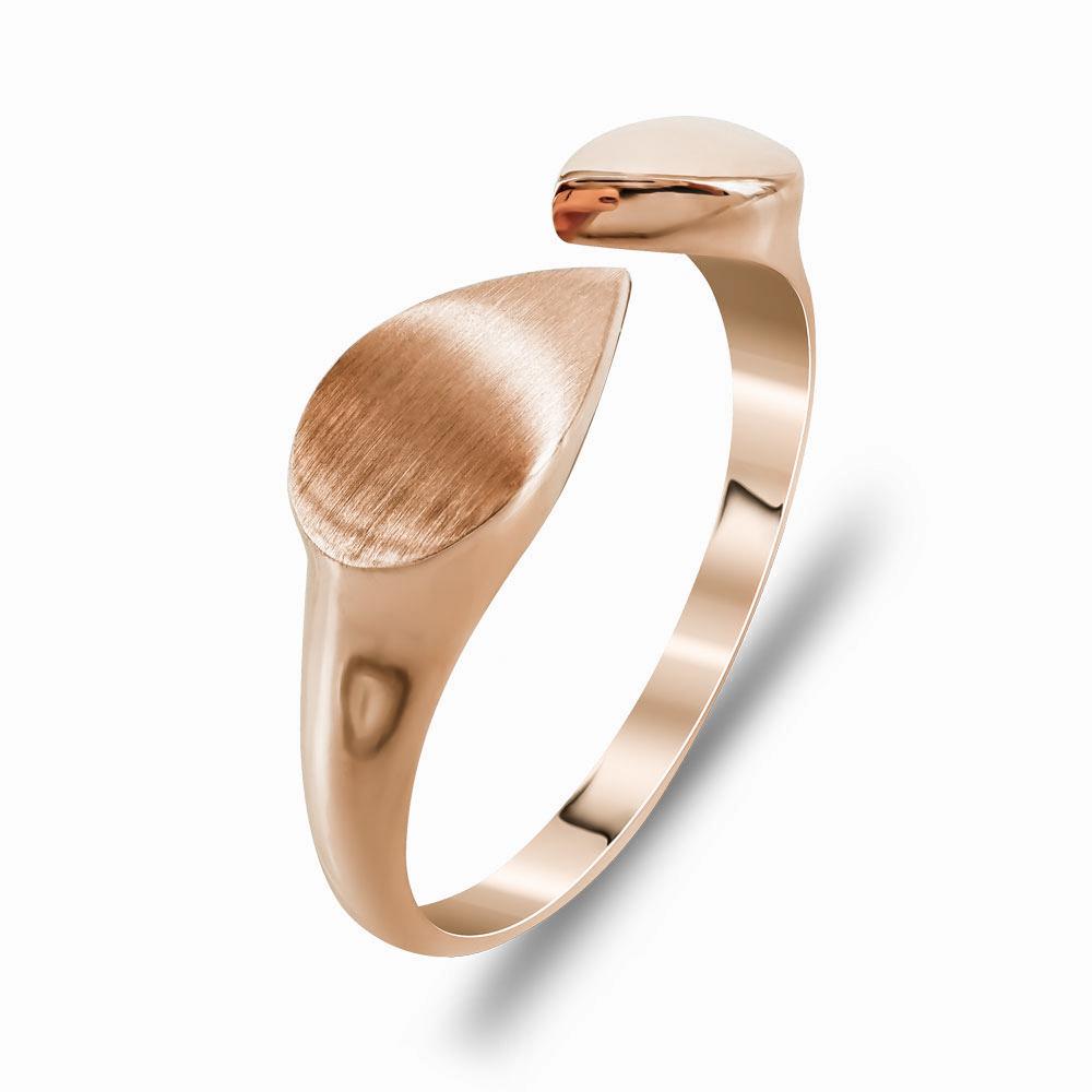 Δαχτυλίδι Μοντέρνο Από Ροζ Χρυσό K14 DX99771