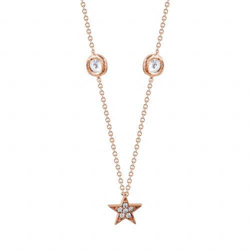Κολιέ Mε Αστεράκια Από Ροζ Χρυσό Κ9 KL86641