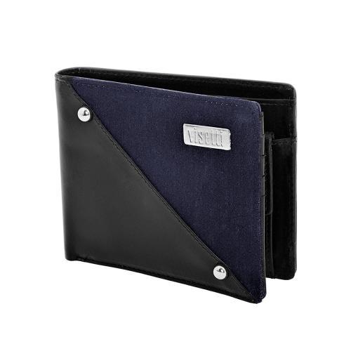 Visetti Αντρικό Πορτοφόλι Από Μαύρο Δέρμα LO-WA017C