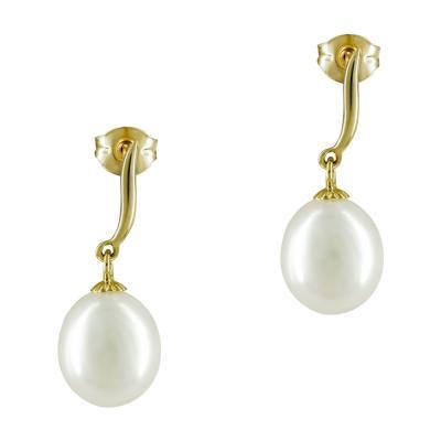 Σκουλαρίκια Με Μαργαριτάρια Από Κίτρινο Χρυσό Κ14 SK884