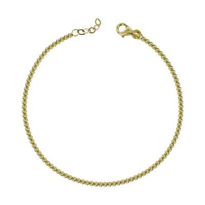 Διαμανταρισμένο Βραχιόλι Από Κίτρινο Χρυσό Κ14 VR572