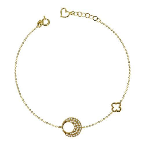 Βραχιόλι Με Πέτρες Από Κίτρινο Χρυσό Κ14 VR94063