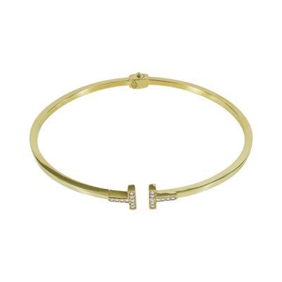 Βραχιόλι Βέργα Από Κίτρινο Χρυσό K14 VR575
