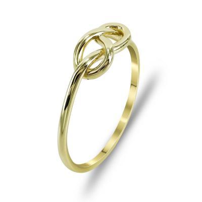 Δαχτυλίδι Με Το Άπειρο Από Κίτρινο Χρυσό K14 DX718