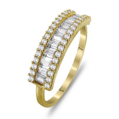 Μισόβερο Δαχτυλίδι Από Κίτρινο Χρυσό Κ14 DX729