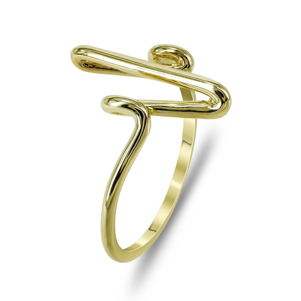 Δαχτυλίδι Με Καρδιογράφημα Από Κίτρινο Χρυσό K14 DX720
