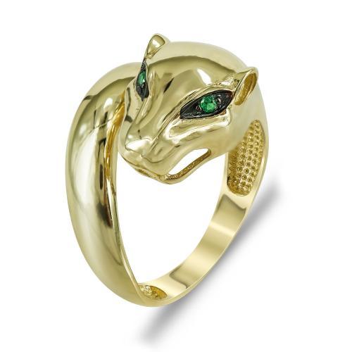 Δαχτυλίδι Πούμα Από Κίτρινο Χρυσό Κ14 DX711