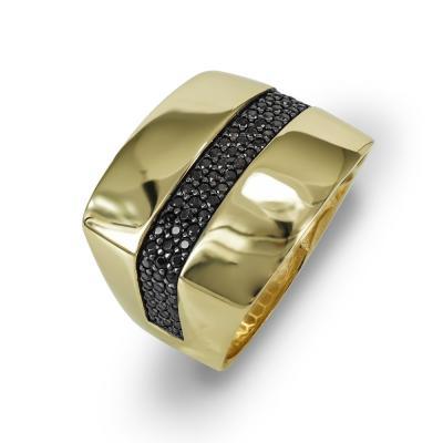 Δαχτυλίδι Φαρδύ Από Κίτρινο Χρυσό Κ14 DX710