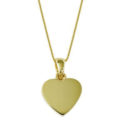 Μενταγιόν Με Καρδιά Από Κίτρινο Χρυσό K14 M99329