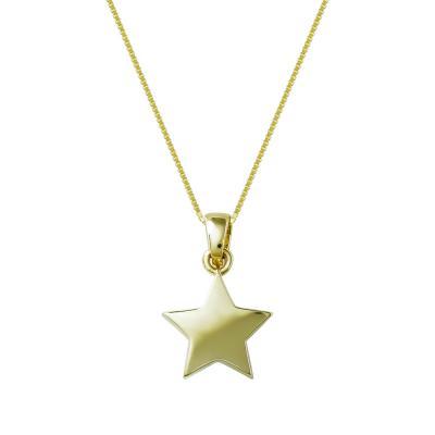 Μενταγιόν Με Αστεράκι Από Κίτρινο Χρυσό Κ14 M99327